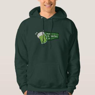 Green Irish Beer Happy St. Patrick's Day Hoodie