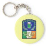 Green Irish Beer is Here Basic Round Button Keychain