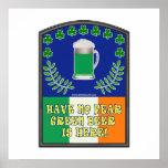 Green Irish Beer is Here Poster