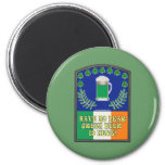 Green Irish Beer is Here Refrigerator Magnets