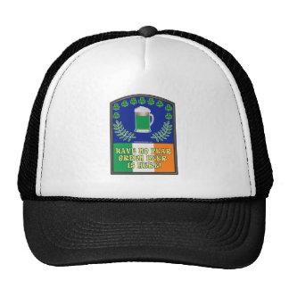 Green Irish Beer is Here Trucker Hats