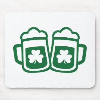 Green irish beer mouse pad