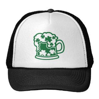 Green irish beer trucker hat