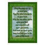 Green Irish Blessing Card