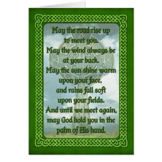Green Irish Blessing Cards