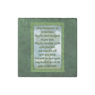 Green Irish Blessing Stone Magnet