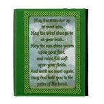 Green Irish Blessing iPad Folio Case