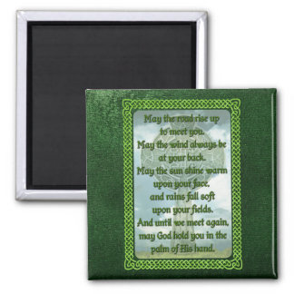 Green Irish Blessing Fridge Magnets