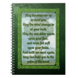 Green Irish Blessing Note Book