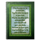 Green Irish Blessing Notebook
