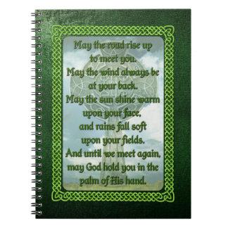Green Irish Blessing Notebook