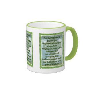 Green Irish Blessing Ringer Mug