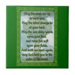 Green Irish Blessing Small Square Tile