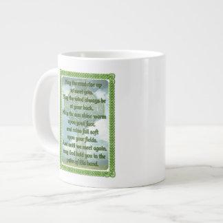 Green Irish Blessing Jumbo Mug