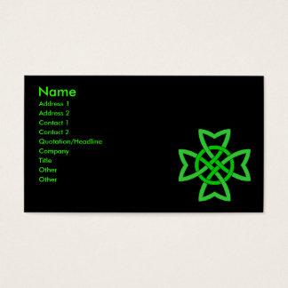 Green Irish Celtic Knot Business Card