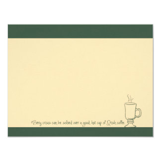 Green Irish Coffee Cup Note Cards