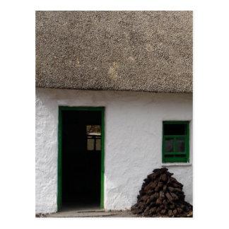 Green Irish Cottage Postcard