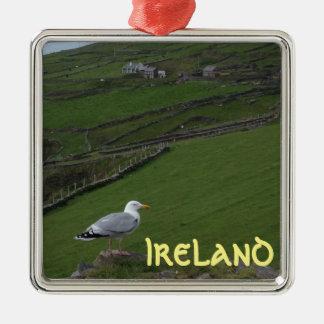 Green Irish Countryside Ireland Ornament