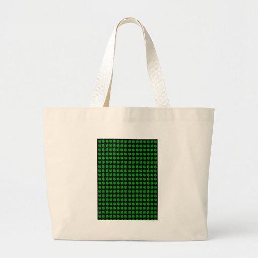 Green Irish four leaf clover design - small Tote Bag