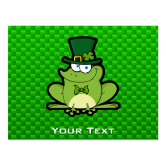 Green Irish Frog Postcard