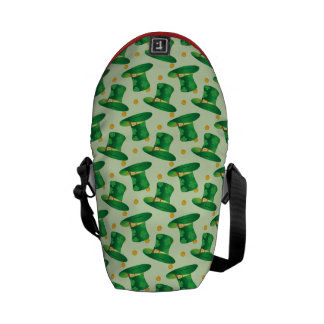 Green Irish Hat pattern , st patrick's day design Courier Bag