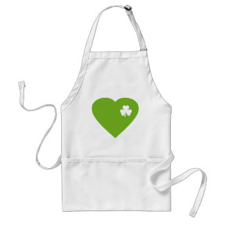 green irish heart adult apron