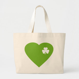green irish heart tote bags
