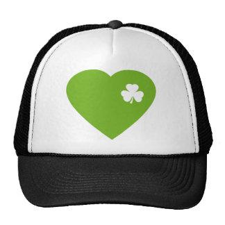 green irish heart trucker hat