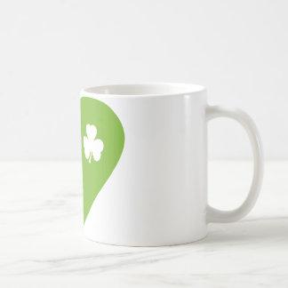 green irish heart classic white coffee mug