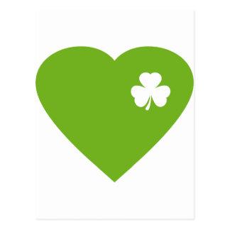 green irish heart postcard