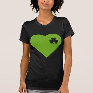 green irish heart t-shirts