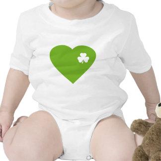 green irish heart bodysuits