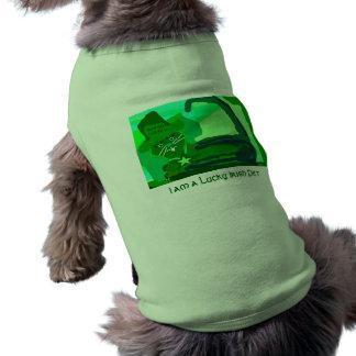 Green Irish Kitty Good Luck Pet Shirt