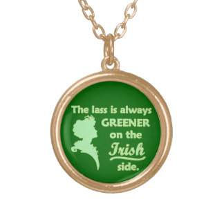 Green Irish Lass Gold Plated Necklace
