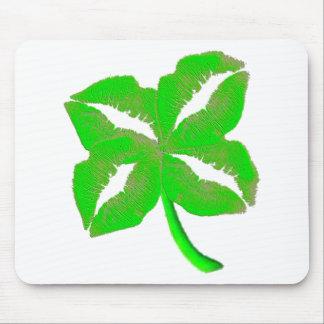 Green Irish Lips Mouse Pad