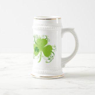 Green Irish Shamrock Beer Stein