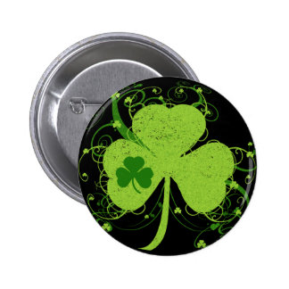 Green Irish Shamrock Pins