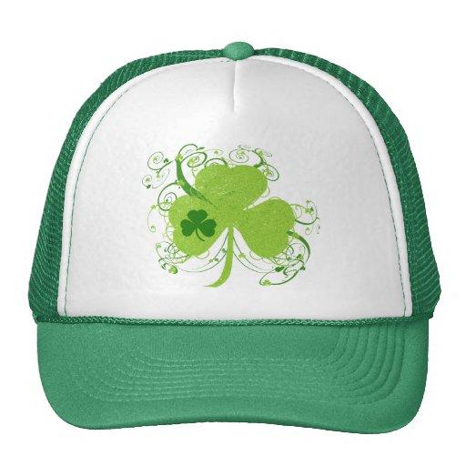 Green Irish Shamrock Hats