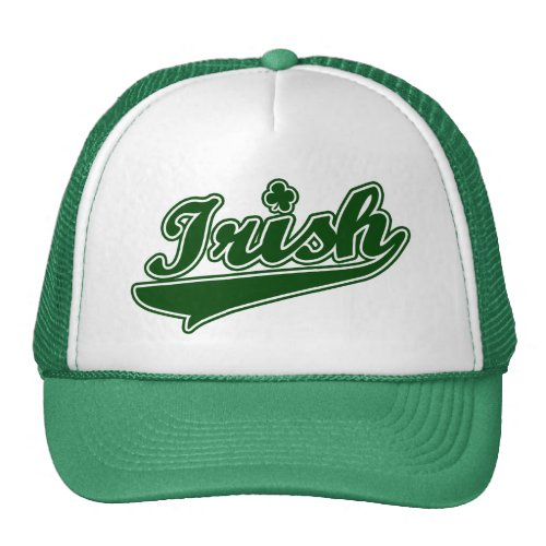 Green Irish Shamrock Mesh Hats