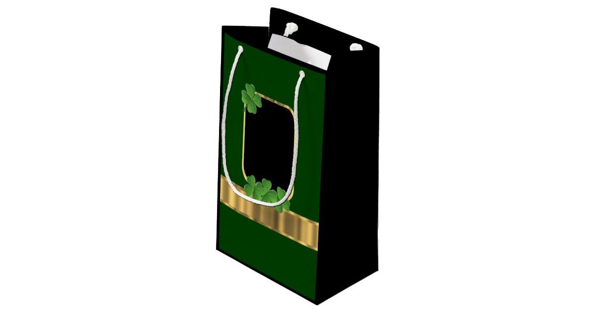 Wedding Gift Bags Ireland : Green Irish shamrock personalized wedding Small Gift Bag Zazzle