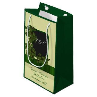 Wedding Gift Bags Ireland : Green Irish shamrock personalized wedding Small Gift Bag