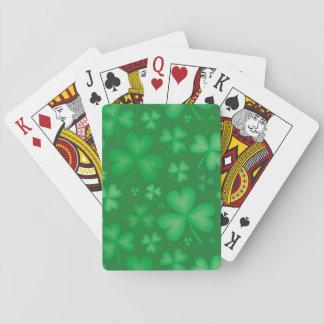 Green Irish Shamrock Playing Cards