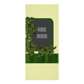 Green Irish shamrock wedding Custom Announcements