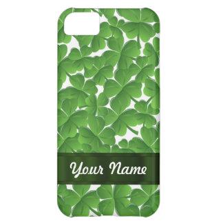 Green Irish shamrocks personalized Case For iPhone 5C