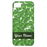Green Irish shamrocks personalized iPhone 5 Cover