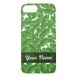 Green Irish shamrocks personalized iPhone 7 Case