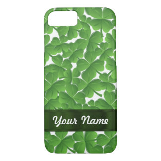 Green Irish shamrocks personalized iPhone 8/7 Case