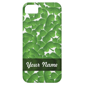 Green Irish shamrocks personalized iPhone SE/5/5s Case