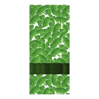 Green Irish shamrocks personalized Rack Card