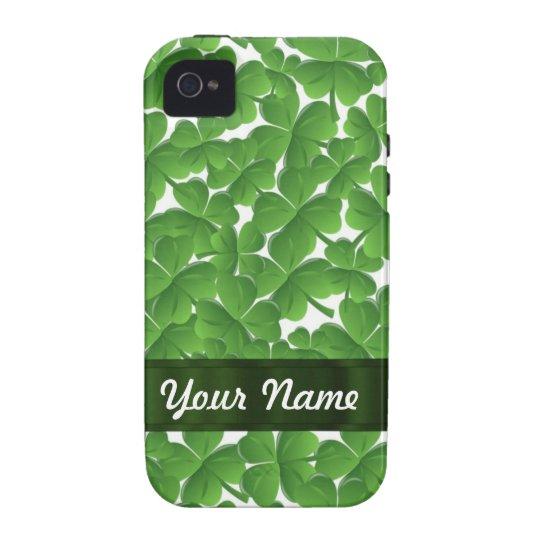 Green Irish shamrocks personalized Vibe iPhone 4 Cover